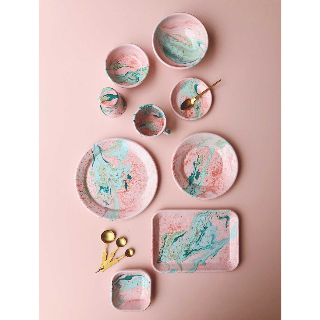 Blush Marble Enamel Small Plate