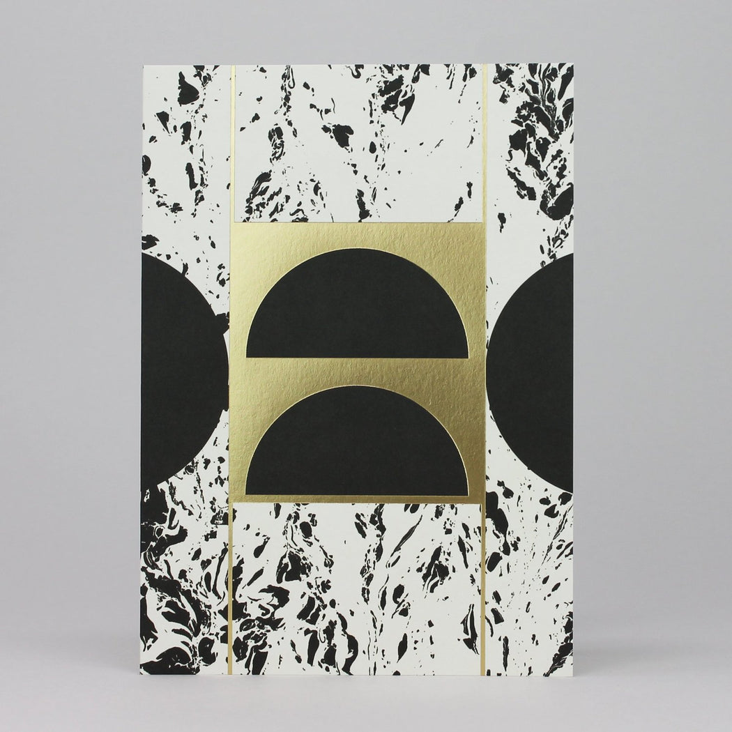 Black & Gold Foil Geo Card