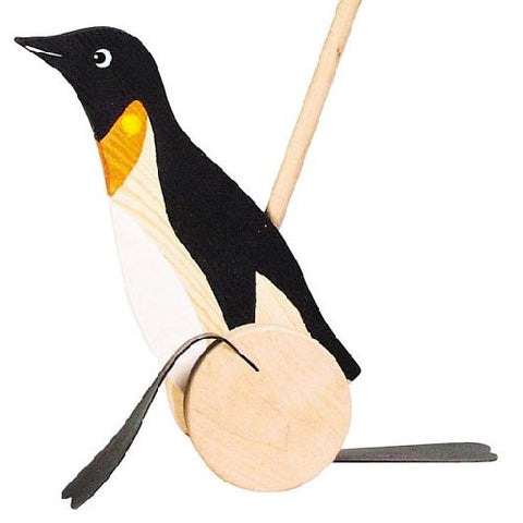 Wooden Push Along Penguin