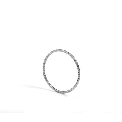 Diamond Ultra Skinny Stacking Ring