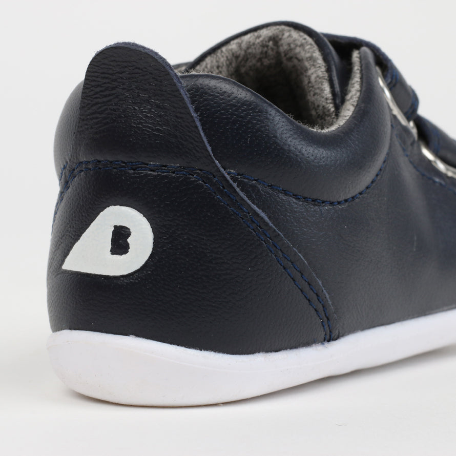 Bobux Navy Step Up Velcro Trainers