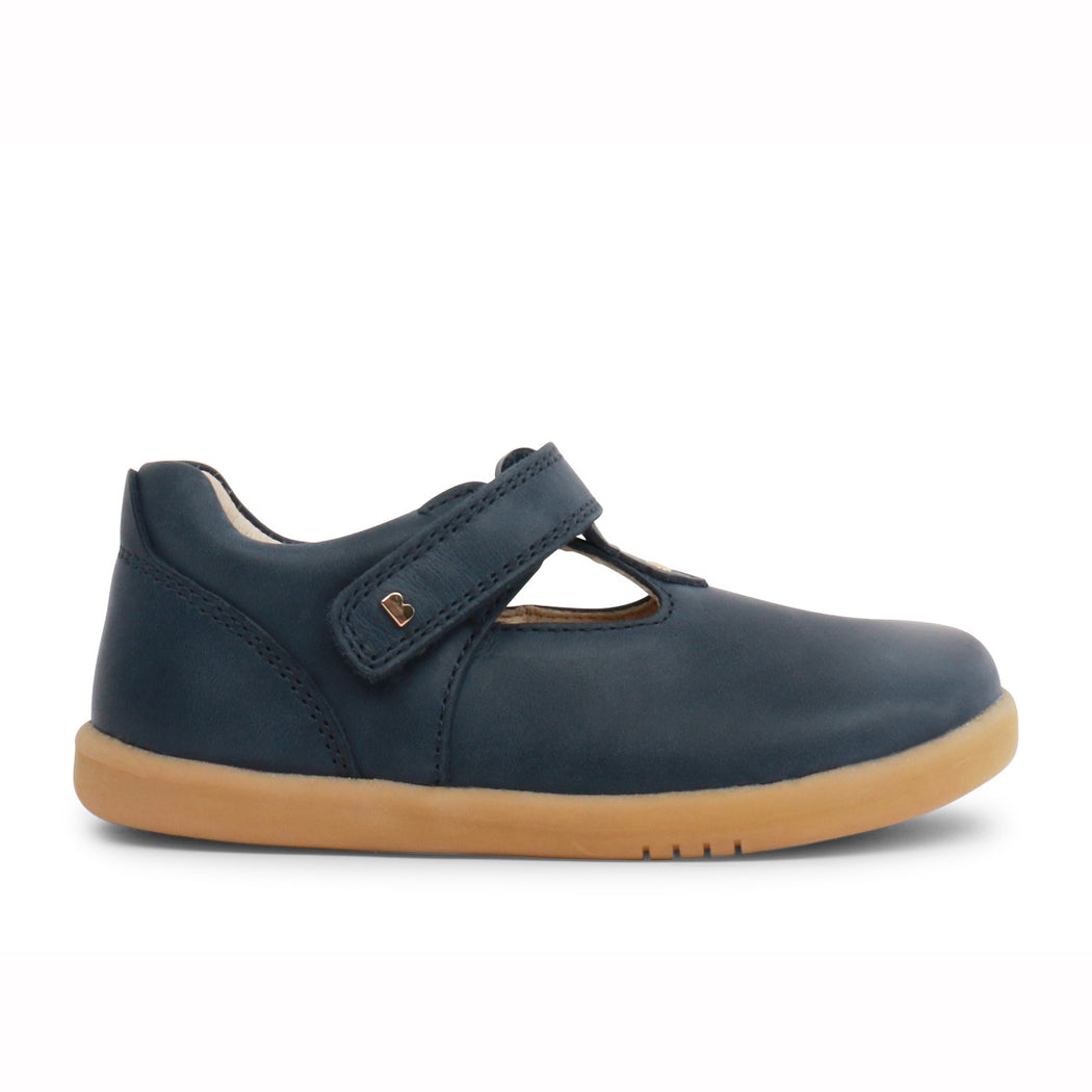 Bobux Navy Step Up T-Bar Shoe