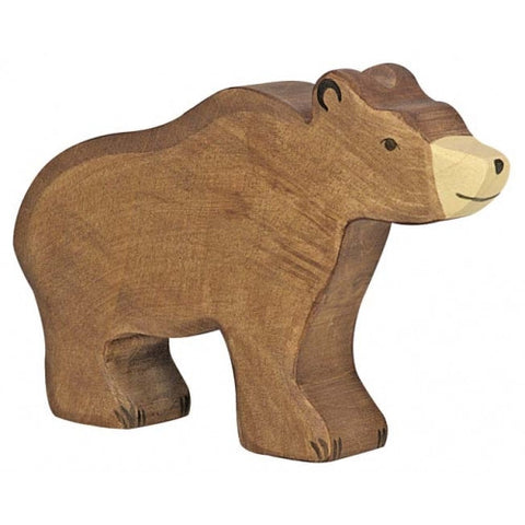 Wooden Large Brown Bear