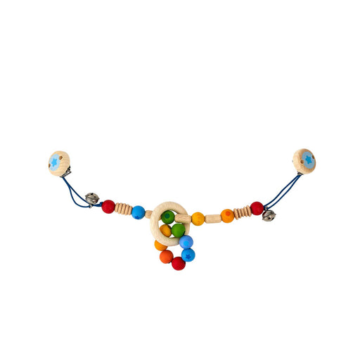 Wooden Rainbow Beads Baby Pram Chain