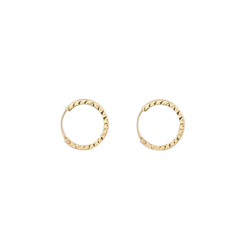 Small 9ct Gold Diamond Cut Hoop Earrings