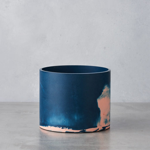 Pink & Stormy Blue Medium Cylinder Vessel