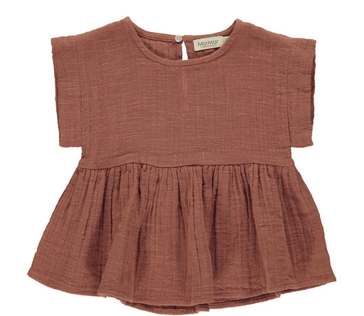 Dusty Brick Muslin Baby Top