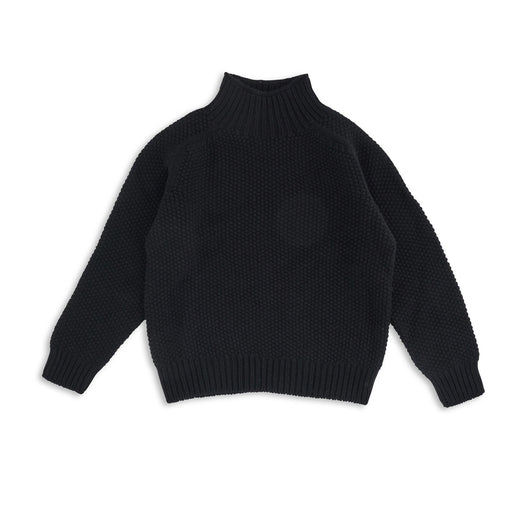 Black Moss Stitch Womens Jumper