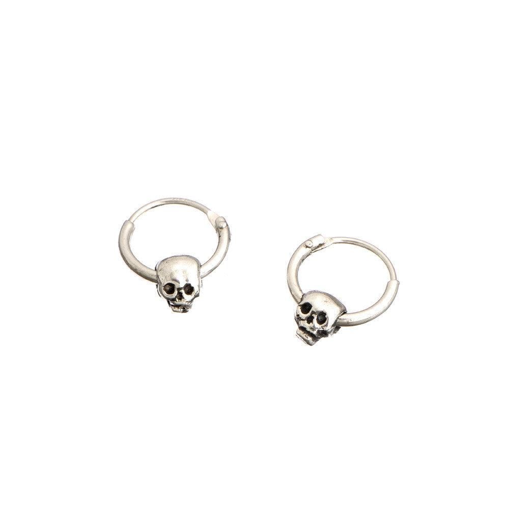 Baby Skull Hoop Earrings