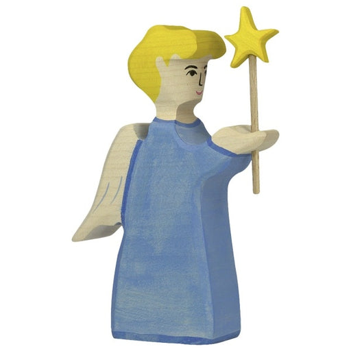 Wooden Angel with Star