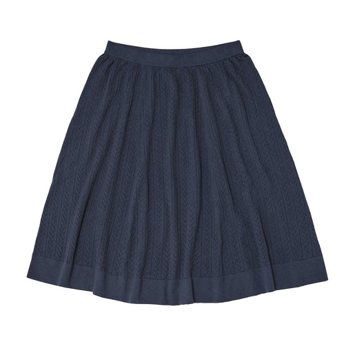 Navy Pointelle Skirt