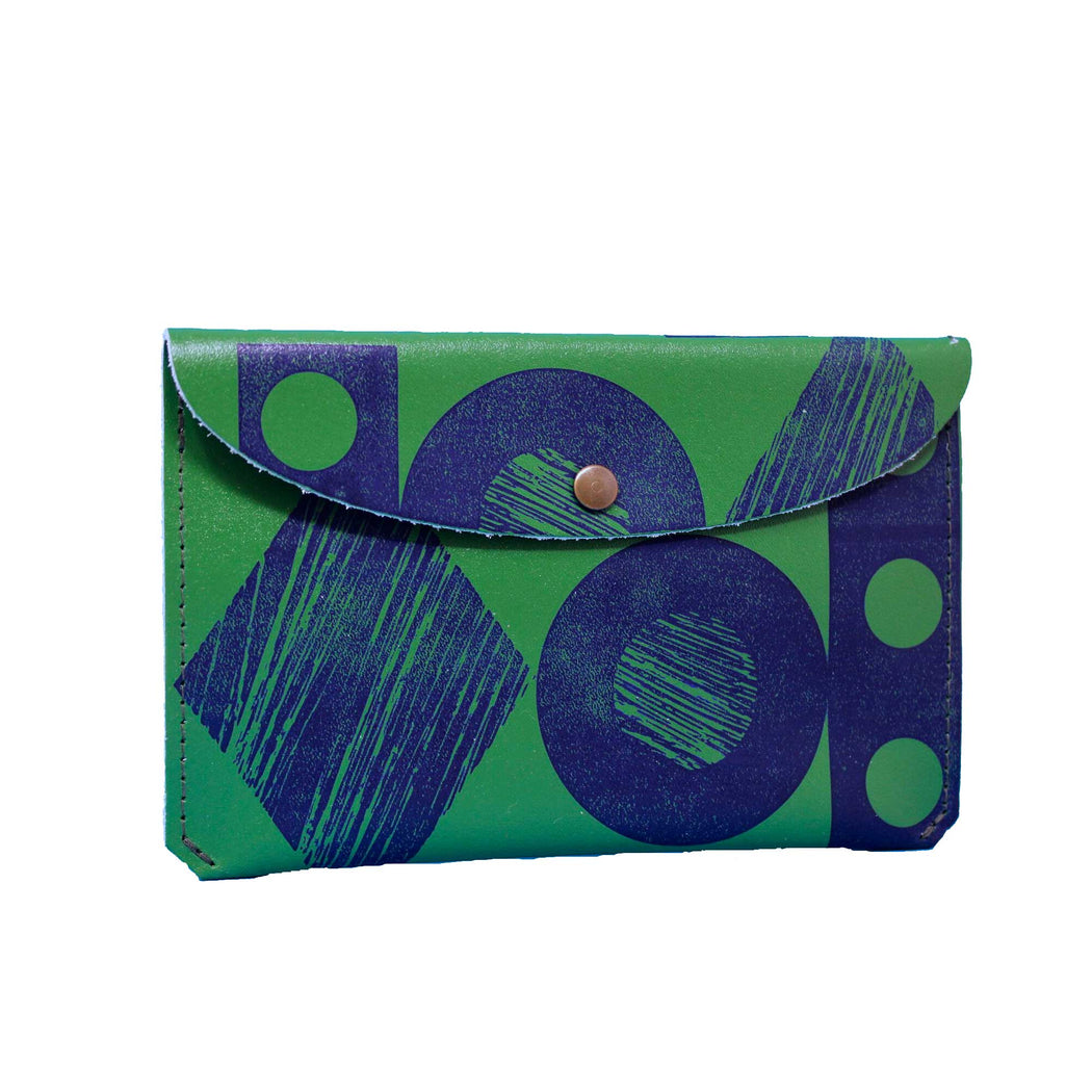 Green & Blue Large Purse