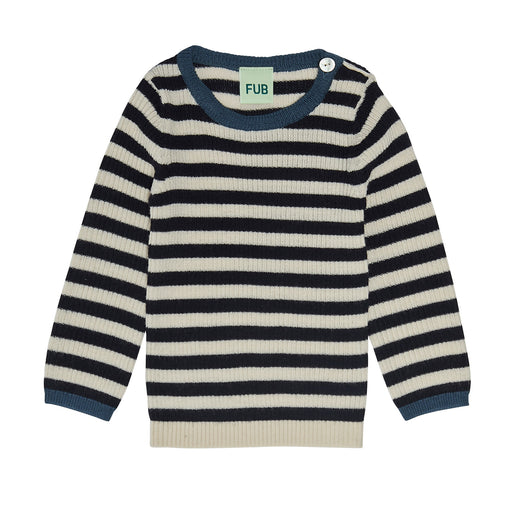 Dark Navy Rib Baby Jumper