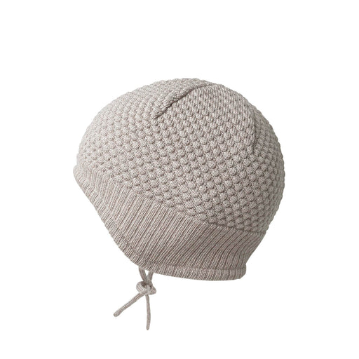 Oatmeal Textured Knit Baby Hat