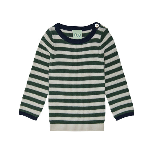 Baby Green Stripe Rib Jumper
