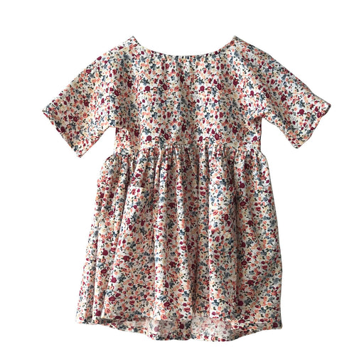 Kids Cream Floral Babydoll Dress