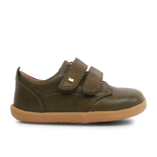 Bobux Olive Green Step Up Velcro Shoes