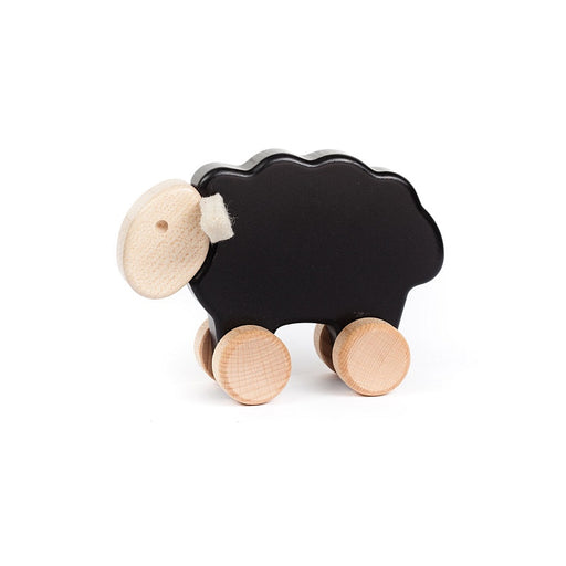 Wooden Sheep on Wheels