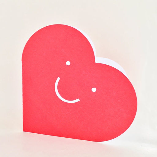 Happy Heart Cut Out Card