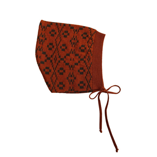 Brick Red Patterned Bonnet