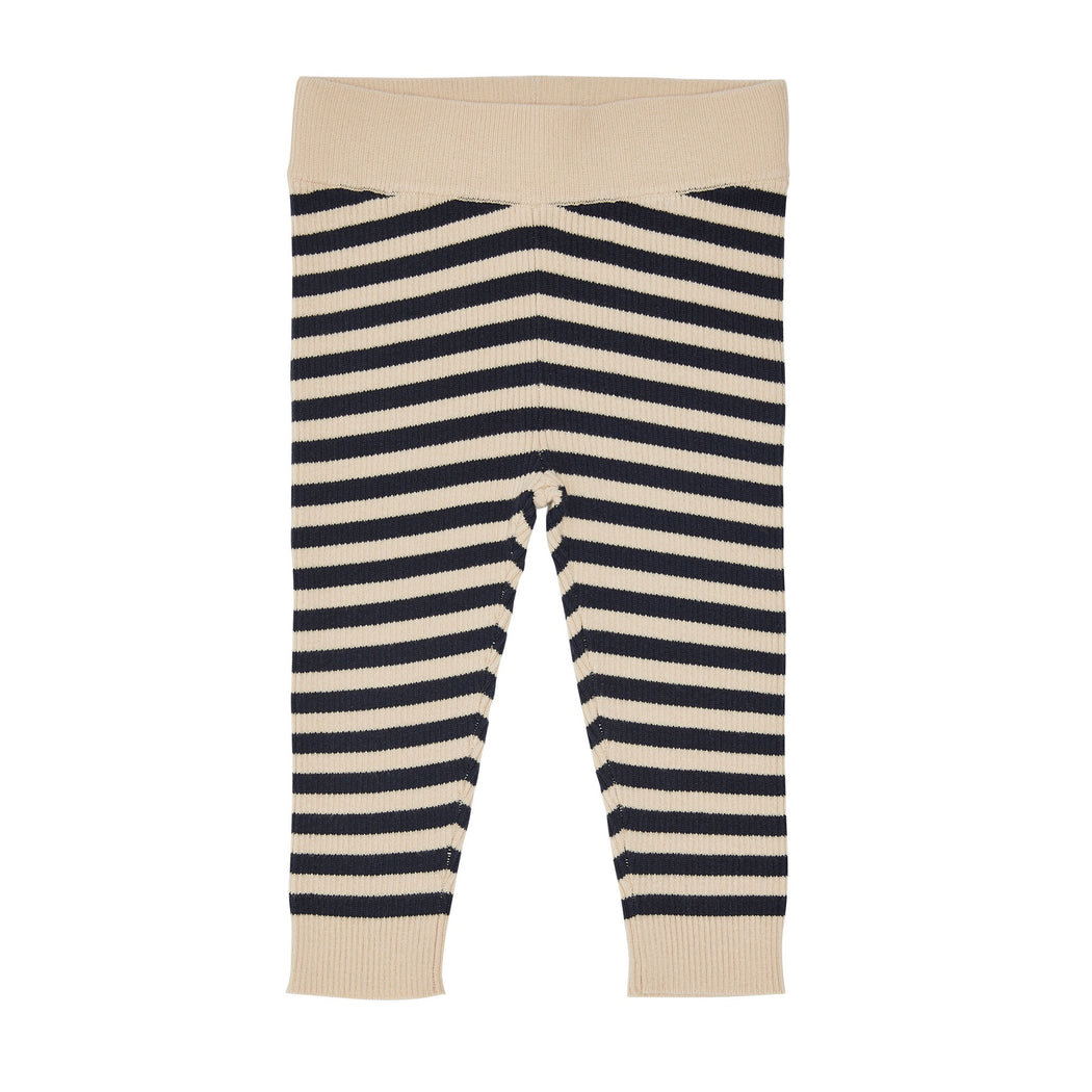 Navy Stripe Baby Leggings