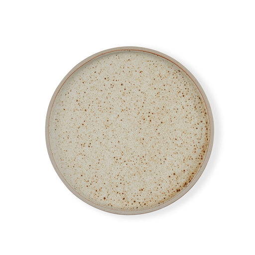 Speckled Round Plate
