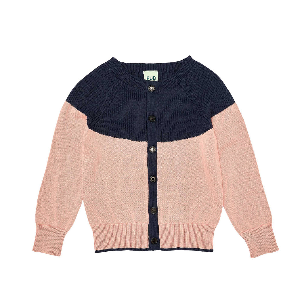 Pink & Navy Organic Cotton Cardigan