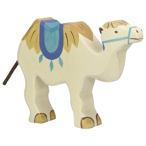 Wooden Camel with Saddle
