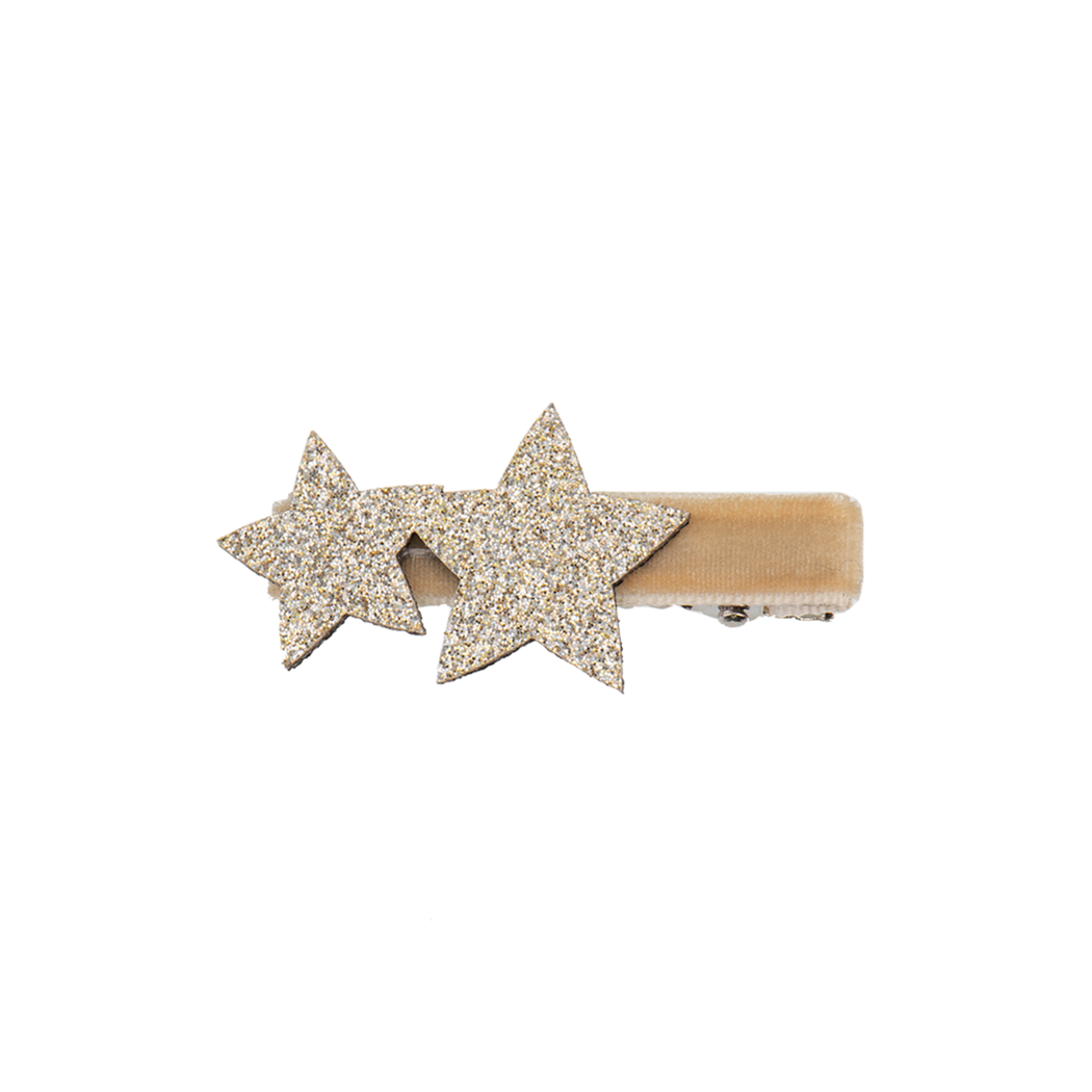 Gold Alligator Clip with Stars