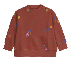 Red Clay Jungle Printed Baby Sweatshirt