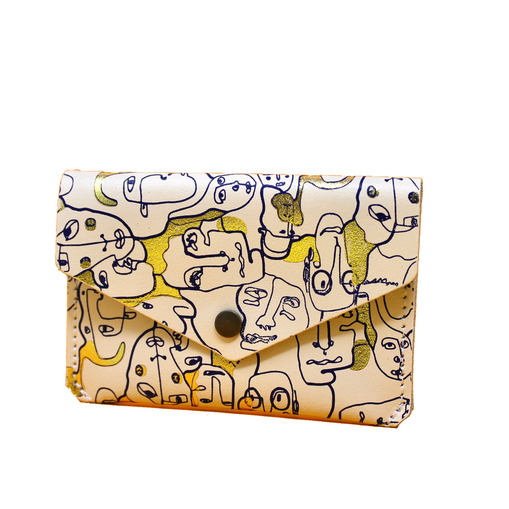 Many Faces Popper Purse