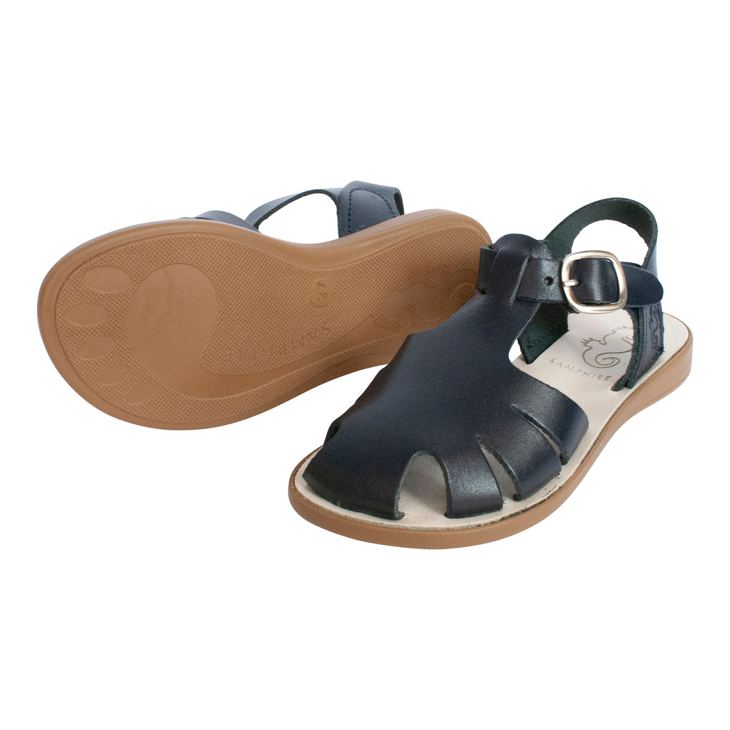 Kids Navy Closed Toe Sandals