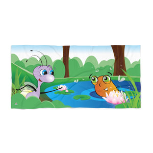 Shelly and the Pollywog Beach Towel