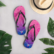 Load image into Gallery viewer, Shelly Shines Floral Flip-Flops