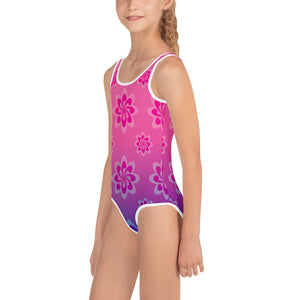 Girl's Shelly Shines Floral Swimsuit - 1-Piece