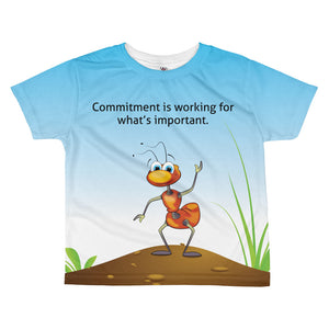 "Wesley's ""Commitment is working for what's important."" T-shirt"