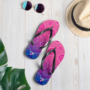 Shelly Shines Floral Flip-Flops