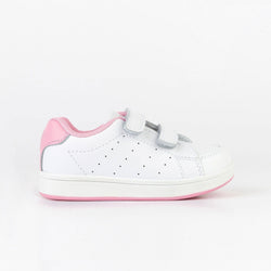 Unisex Pink Washable Leather Trainers