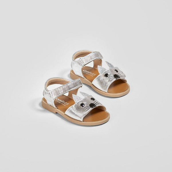 Baby's Metallic Silver Kitten Sandals