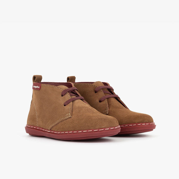 Boy's Brown Suede Safari Boots