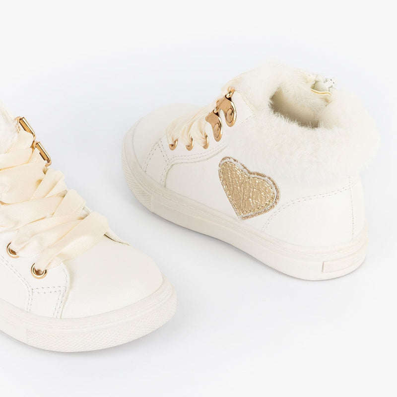 Baby's White Fur Booties