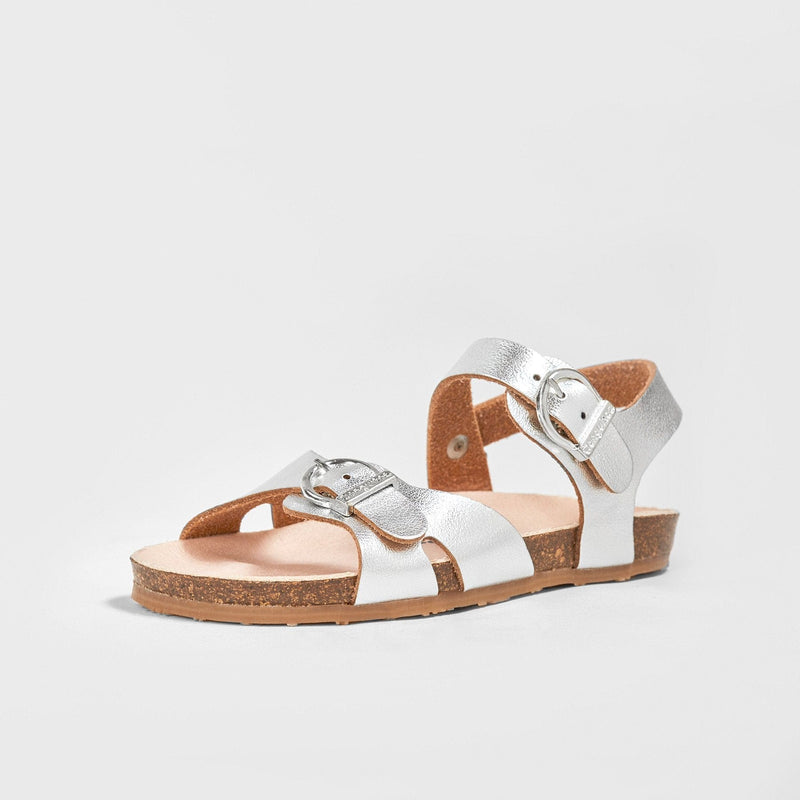 Girl's Metallic Silver Bio Sandals