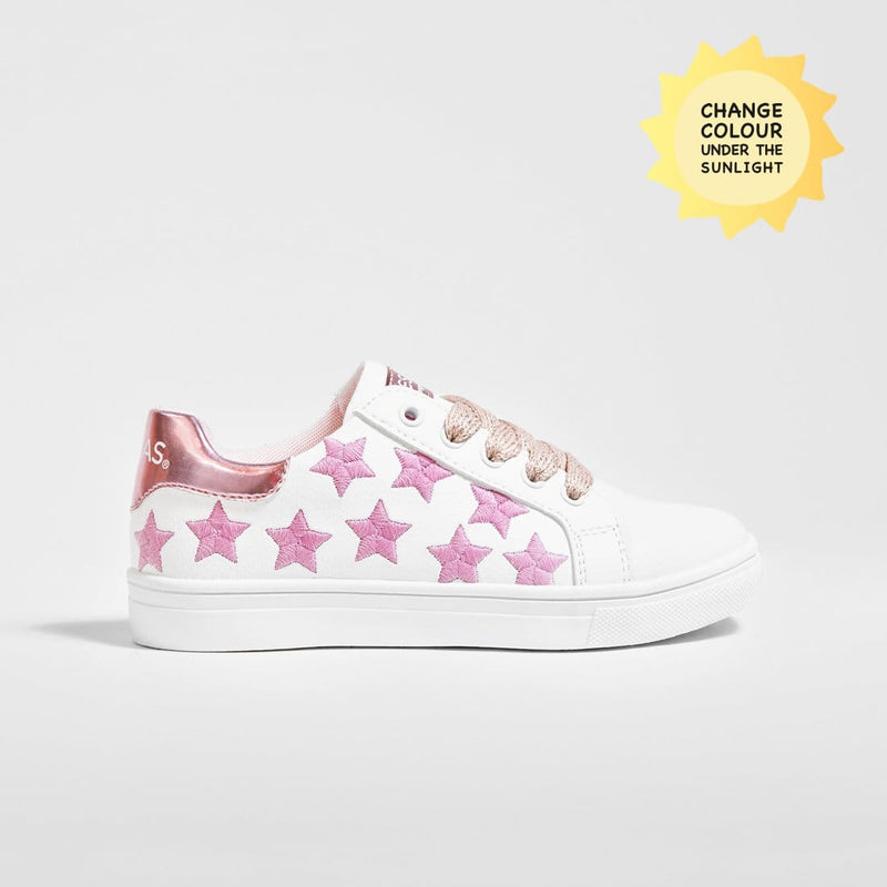 Girl's Solar Stars Colour Changing Sneakers