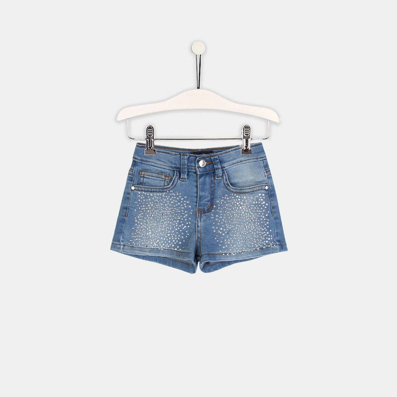Shorts de Niña Denim Strass