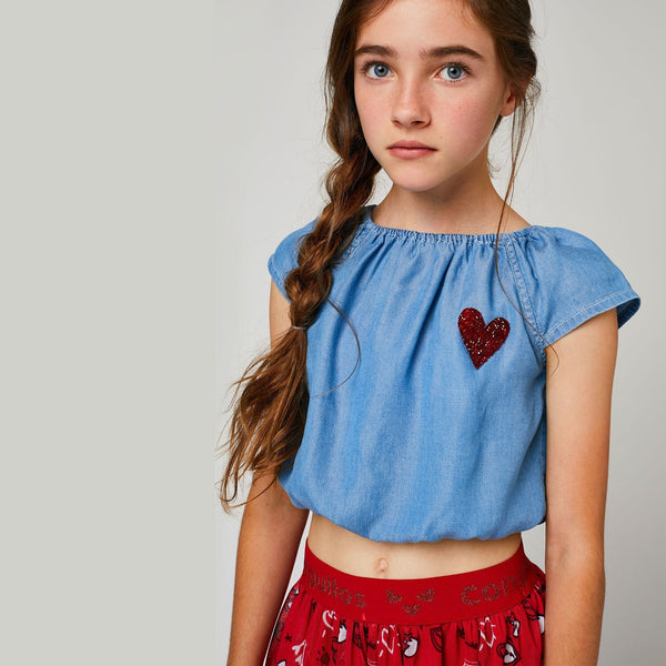 Top de Niña Tencel Denim