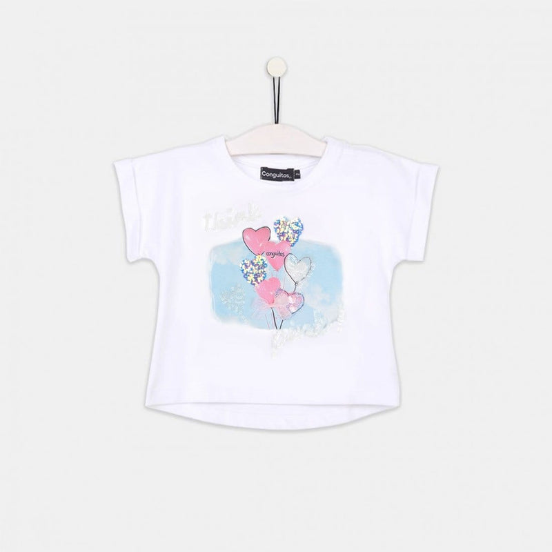"Girls ""Balloons"" Glitter Glow in the dark T-shirt"