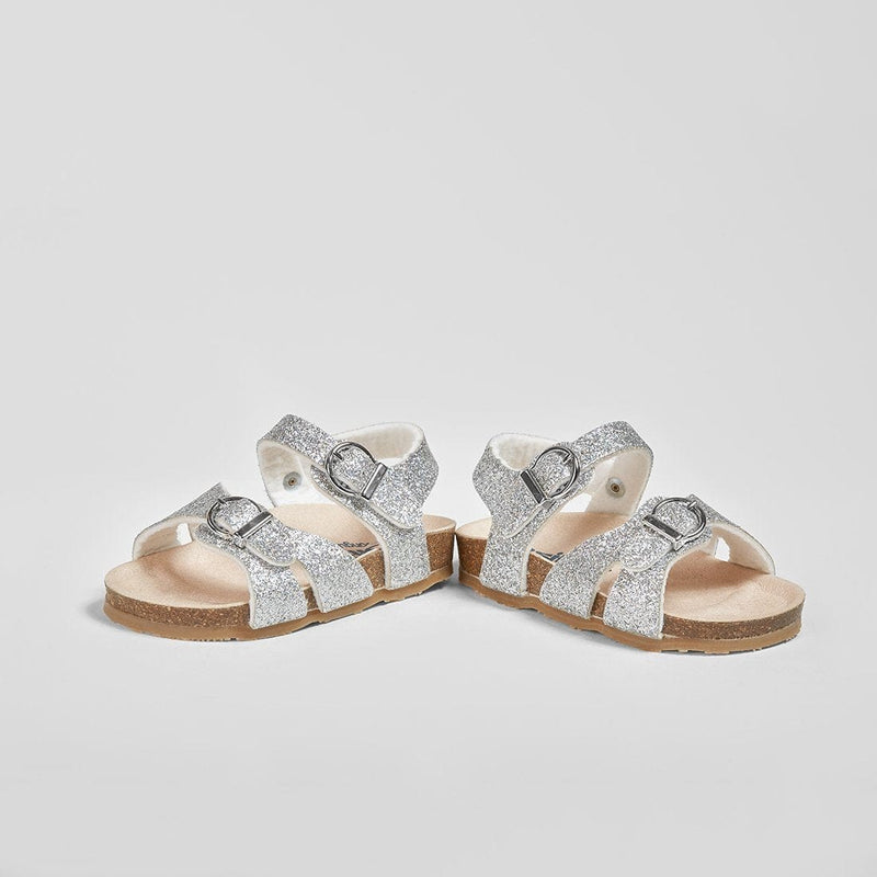 Baby's Silver Glitter Sandals