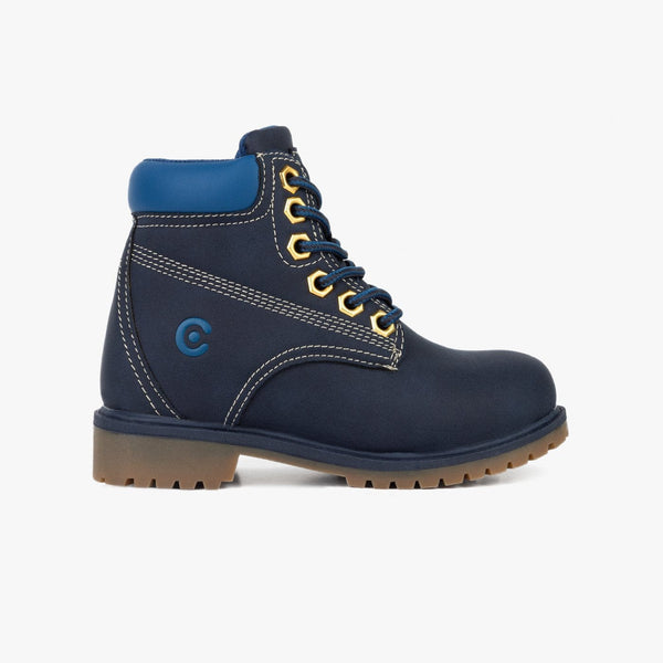 Unisex Navy Mountain Boots