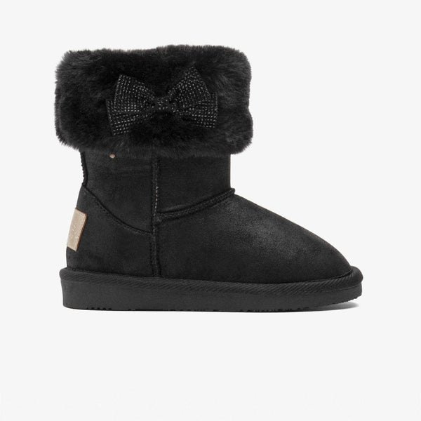 Girl's Black Fur Australian Boots