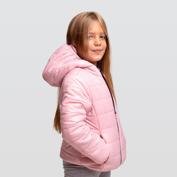 Girl's Pink Recycled Reflectant Anorak